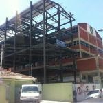 Estrutura metálica para prédio